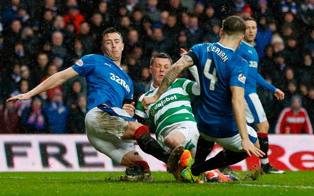 Rangers' Rob Kiernan in action. Photo: Reuters / Russell Cheyne