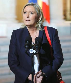 Front National leader Marine Le Pen Photo: AP Photo/Jacques Brinon