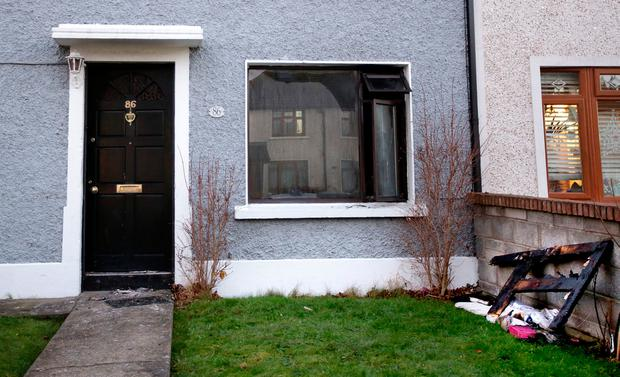 The house in Ventry Park Cabra where an elderly woman lost her life in a fire this morning. Picture; Gerry Mooney