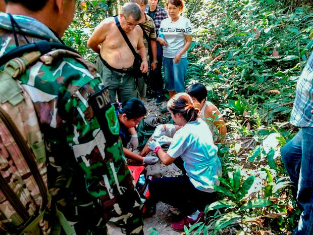 Benetulier was bitten by a crocodile inside the Thai national park as she tried to get close to the fearsome animal to take a selfie, an official said. Picture: AFP PHOTO / AFP PHOTO AND Khao Yai National Park / HO /