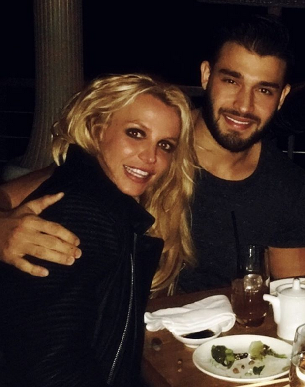 Britney Spears and Sam Asghari. Image: Instagram