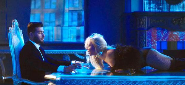 Britney Spears and Sam Asghari in the Slumber Party music video. Image: YouTube