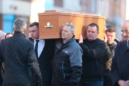 Funeral of Noel Kirwan in Dublin. Picture: Gerry Mooney
