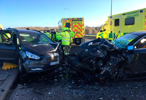 The two-car collision involved American tourists who had just arrived in Ireland. Photo: Press 22