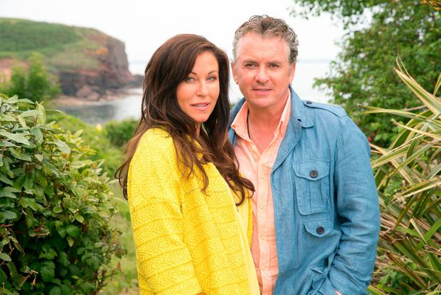 Kat and Alfie Moon, played by Jessie Wallace and Shane Richie, filming in Ireland. Photo: BBC