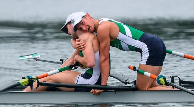 The success of Annalise Murphy, Paul and Gary O'Donovan provided welcome relief from the bad news that brought about Pat Hickey's arrest in Rio. Photo: Stephen McCarthy/Sportsfile