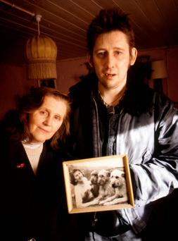 Shane MacGowan with his mother Therese. Photo: Getty Images