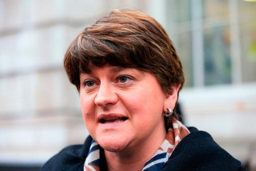 Under pressure: First Minister Arlene Foster. Photo: Jonathan Brady/PA Wire
