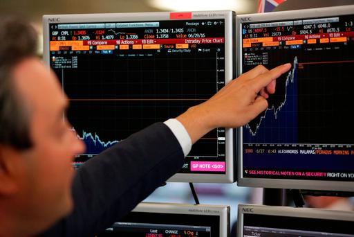 The euro slipped 0.4pc back below $1.05 after climbing to as high as $1.07 during a flash surge in low trading volumes in Asia on Friday. Photo: AFP/Getty Images