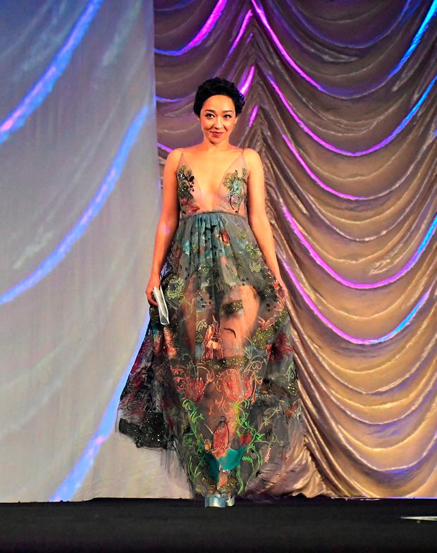 Actress Ruth Negga accepts the 'Rising Star Award' onstage at the 28th Annual Palm Springs International Film Festival Film Awards Gala at the Palm Springs Convention Center on January 2, 2017 in Palm Springs, California. (Photo by Charley Gallay/Getty Images for Palm Springs International Film Festival)