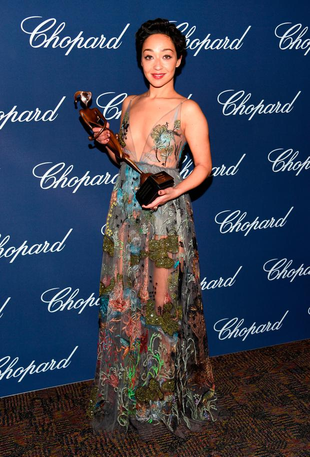 Actress Ruth Negga poses with the Rising Star Award during the 28th Annual Palm Springs International Film Festival Film Awards Gala at the Palm Springs Convention Center on January 2, 2017 in Palm Springs, California. (Photo by Michael Kovac/Getty Images for Palm Springs International Film Festival)