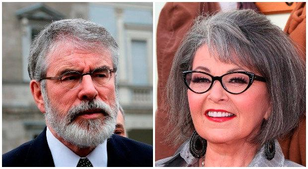 Gerry Adams and Roseanne Barr