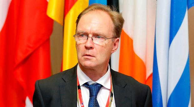 Britain's ambassador to the European Union Ivan Rogers is pictured leaving the EU Summit in Brussels, Belgium, June 28, 2016. REUTERS/Francois Lenoir