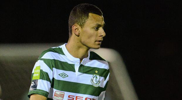 Dean Ebbe during his days at Shamrock Rovers