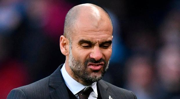 Manchester City manager Pep Guardiola. Photo: Anthony Devlin/Reuters