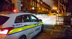 Gardaí sealed off the scene of the mugging in Drumcondra.
