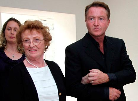 Michael Flatley with his mother Elizabeth. Photo: James Connolly