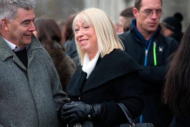 Anne Doyle at the funeral of former Pogues manager Frank Murray in St Paul's Church, Mount Argus. Photo: Tony Gavin