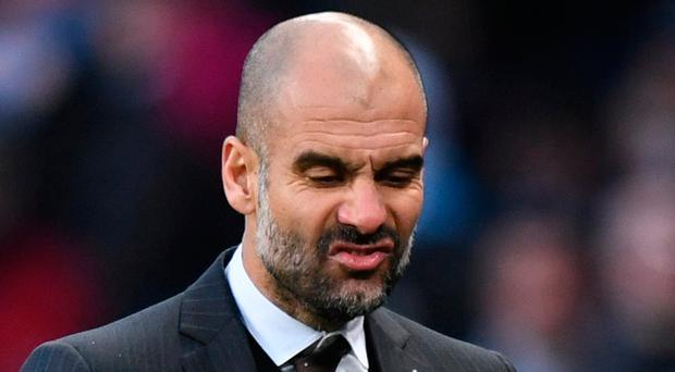 Manchester City manager Pep Guardiola is master of his own destiny. Photo: Reuters / Anthony Devlin