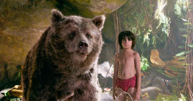 Baloo and Mowgli in The Jungle Book. ©2106 Disney Enterprises, Inc. All Rights Reserved.
