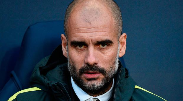 Manchester City manager Pep Guardiola. Photo: AFP/Getty Images