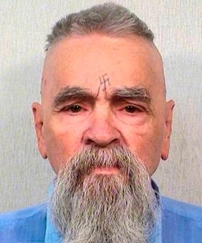 This Oct. 8, 2014 file photo provided by the California Department of Corrections and Rehabilitation shows serial killer Charles Manson. (California Department of Corrections and Rehabilitation via AP, File)