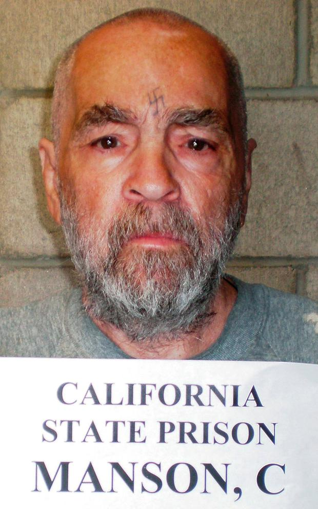 Convicted murderer Charles Manson is shown in this handout image released March 18, 2009 from Corcoran State Prison in California. REUTERS/Courtesy of Corcoran State