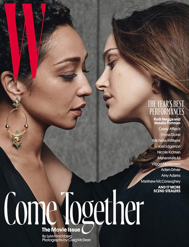 Ruth Negga and Natalie Portman for W Magazine