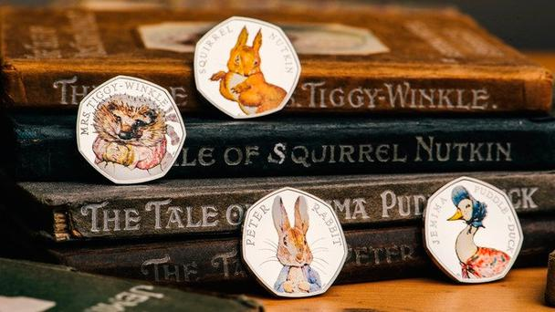 The special edition series marks 150 years since Beatrix Potter's birth. Credit: Royal Mint