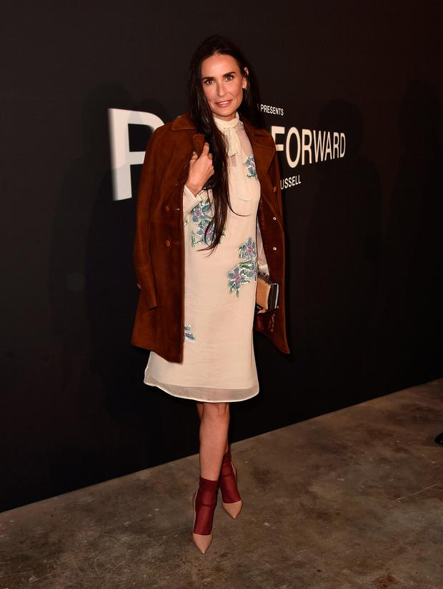 On trend: Actress Demi Moore
