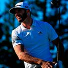 Dustin Johnson, pictured during yesterday's pro-am, is part of the elite field teeing itup at the SBS Tournament of Champions in Lahaina, Hawaii. Photo: Cliff Hawkins/Getty Images