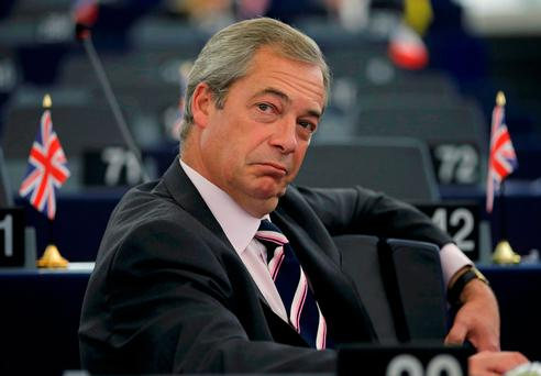 Nigel Farage Photo: REUTERS