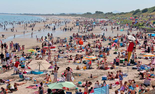 Portmarnock Beach in Dublin on the hottest day of the year on July 19. Photo: Colin Keegan, Collins Dublin.