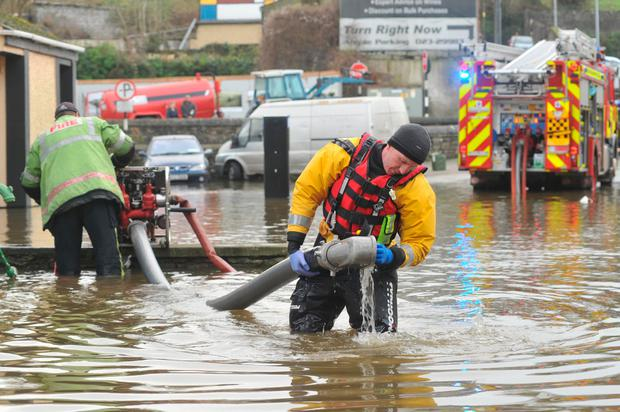 Heavy flooding in Bandon, Co Cork, last year. Photo: Daragh Mc Sweeney/Provision