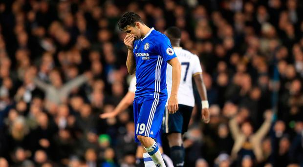 Chelsea's Diego Costa. Photo: Adam Davy/PA Wire