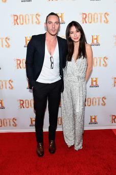 Actor Jonathan Rhys Meyers (L) attends the