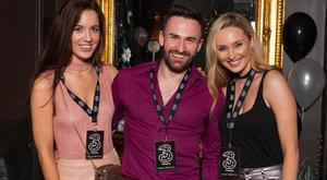 Cathy Donoghue, Shane Cassidy and Megan Cassidy at the 3Countdown Concert on New Year's Eve. Picture: Photocall Ireland