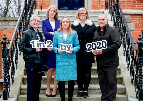 Cancer survivor Cormac Clancy, Dr. Antoinette Perry, Lecturer & Cancer Researcher, Grainne O'Rourke, Head of Communications, Irish Cancer Society, Louise McSharry, 2FM DJ and cancer survivor and Tony Ward, Former International rugby player, journalist and cancer survivor
