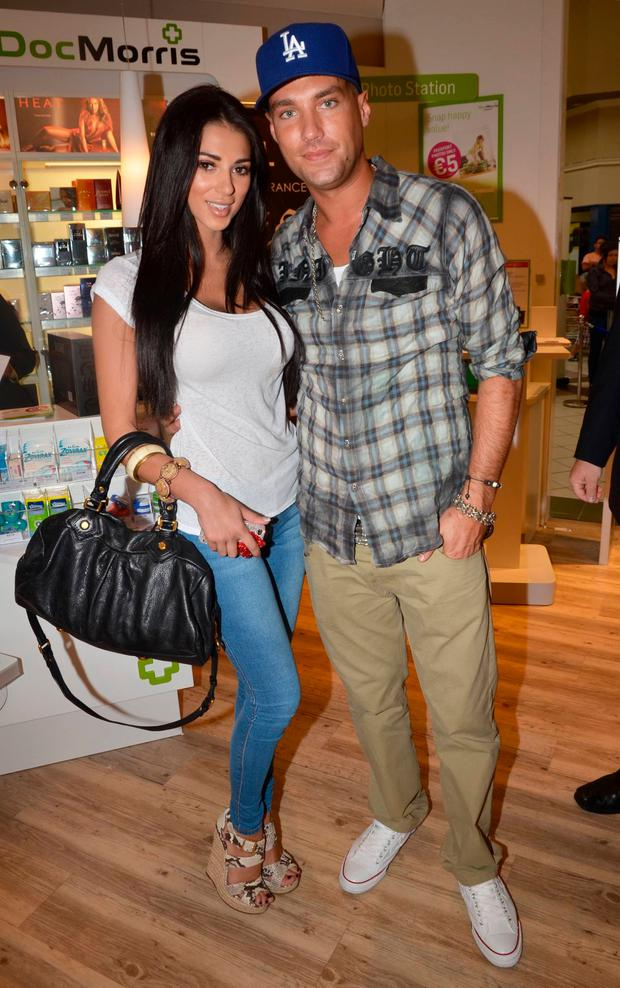 Georgia Salpa and Calum Best in Dublin in 2011
