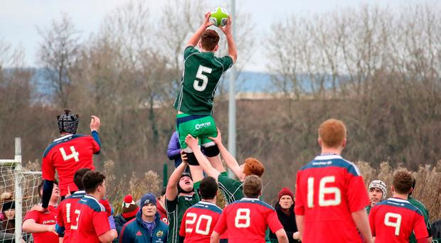 U-17 Players in action against Munster