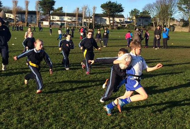 Participants in action at the Skerries RFC pre-Christmas blitz