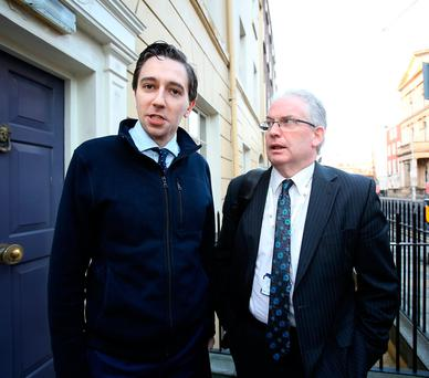 Health Minister Simon Harris and HSE director general Tony O'Brien. Photo: Tom Burke