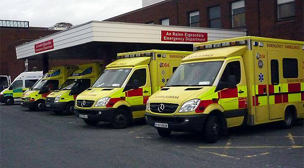 Queues of up to 16 ambulances have been seen at hospitals as ambulance staff are put under pressure to find space for patients. (Stock picture)