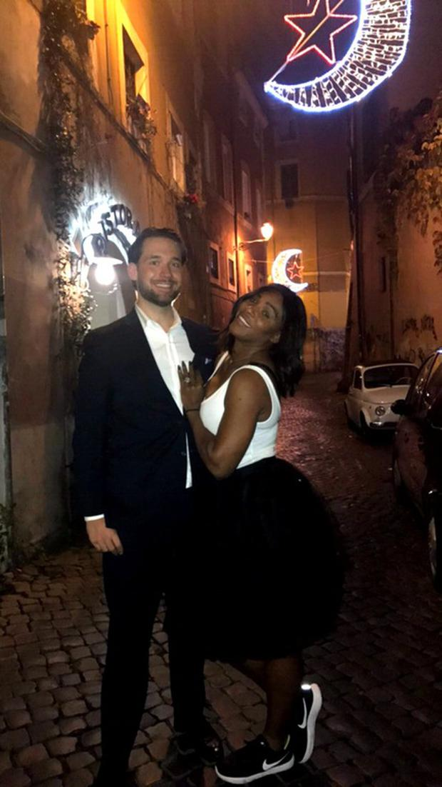 Serena Williams and Alexis Ohanian. Image: Reddit