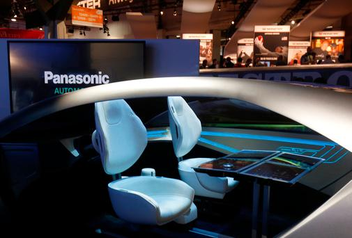 A mock-up of an autonomous car interior is shown at the Panasonic booth during the 2017 CES in Las Vegas, Nevada, January 5, 2017. REUTERS/Steve Marcus
