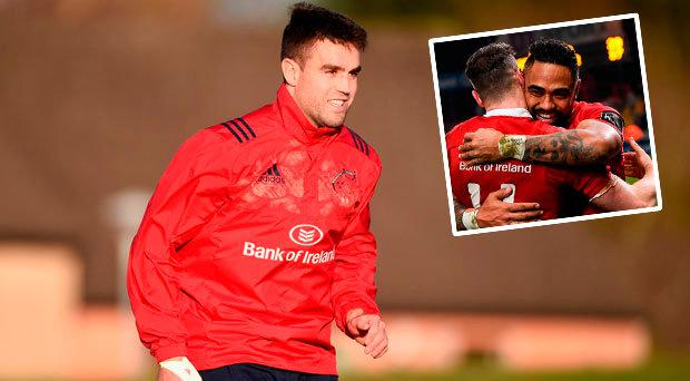 Conor Murray will start for Munster against Racing while Francis Saili is on the bench