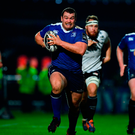 Jack McGrath races away from the Zebre defence during last night's victory for Leinster. Photo: Sportsfile