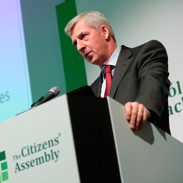 Dr Peter McParland -National Maternity Hospital addressing the room Photo: Maxwells