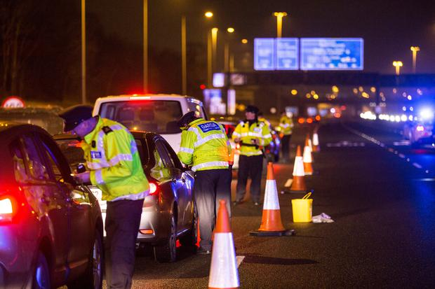 Gardai doing a MAT checkpoints on the M50. Pic:Mark Condren