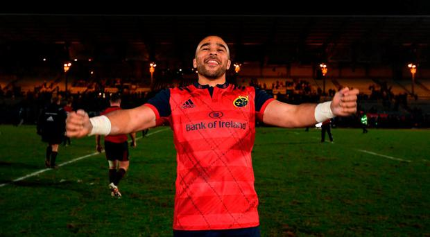 Simon Zebo of Munster following the European Rugby Champions Cup Pool 1 Round 1 match between Racing 92 and Munster at the Stade Yves-Du-Manoir in Paris, France. Photo by Stephen McCarthy/Sportsfile